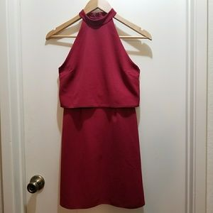 ASOS Burgundy Mini Dress
